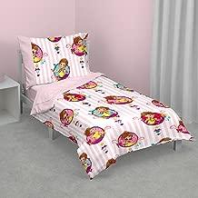 Disney Fancy Nancy 4 Piece Toddler Bed Set, Pink/White/Yellow