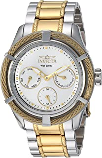 Invicta Women's Bolt Quartz Watch with Two-Tone-Stainless-Steel Strap, 20 (Model: 24455)