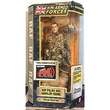 H.M. Armed Forces RAF Police Dog Handler Figure with RAF
