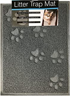 bulk buys Quality Gray Cat Litter Trap Mat, Non-Slip Backing, Dirt Catcher, Soft on Paws, Easy to Clean