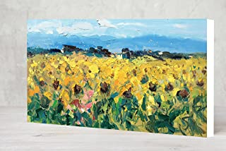 10be4873830 Large Landscape Sunflowers Prints on Canvas Ready to Hang Tuscan Field Wall  Art Country Decor Tuscany