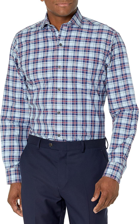 Buttoned Down Men's Classic Fit Cutaway-Collar Supima Cotton Dress Casual Shirt