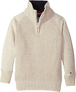 Tommy Hilfiger Kids - Raglan 1/2 Zip Sweater (Toddler)