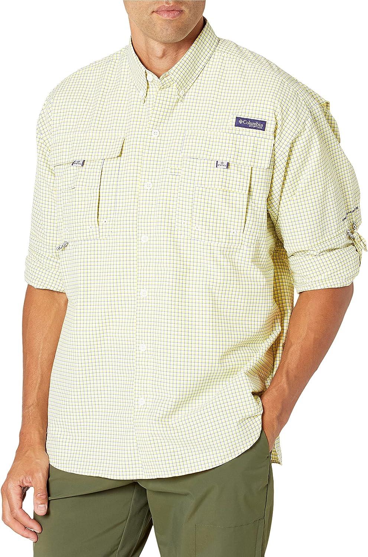 Columbia Men's Super Bahama Superior Sleeve Plaid Long Shirt Super popular specialty store