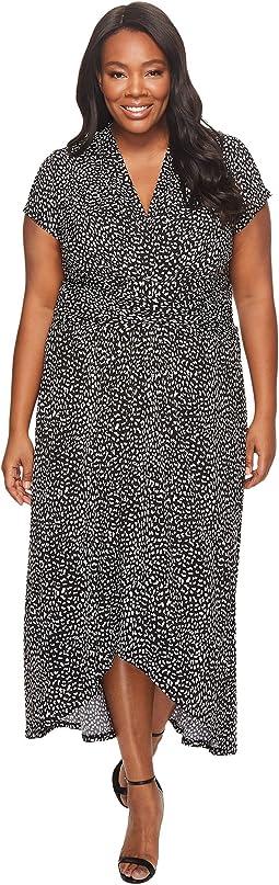 MICHAEL Michael Kors - Plus Size Cheetah Wrap Dress