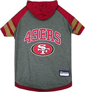 Pets First NFL SAN Francisco 49ERS Hoodie for Dogs & Cats. | NFL Football Licensed Dog Hoody Tee Shirt, X-Small| Sports Ho...