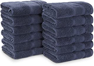 Nautica Belle Haven Wash Towel Set, 13x13, Navy