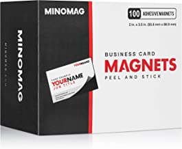 Minomag Business Card Magnets | Peel and Stick Adhesive Magnetic Backings (Box of 100, 3.5 inch x 2 inch Magnets)
