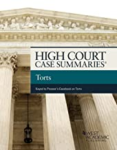 High Court Cases Summaries, Torts (Keyed to Prosser) (High Court Case Summaries)
