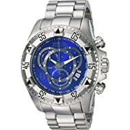 Invicta Men's Connection Quartz Watch with Stainless-Steel Strap, Silver, 26 (Model: 24731)
