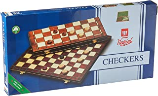 Checkers Set in Folding Wooden Case - 100 Playing Field - 15-1/2''