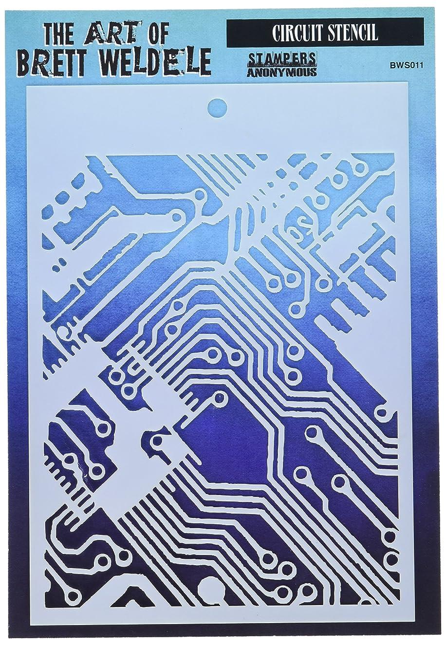 Stampers Anonymous BWS011 Circuit Brett Weldele Stencils, 6.5