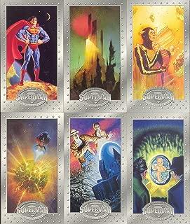SUPERMAN PLATINUM COLLECTORS EDITION WIDEVISION 1994 SKYBOX BASE CARD SET 90 DC
