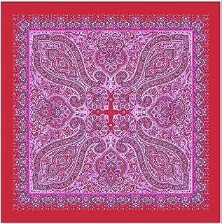tessago Scialle, lana 100% Rosso fragola, cm 140x140