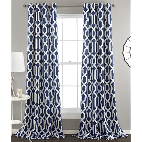 Navy Blue And White Curtains Amazoncom
