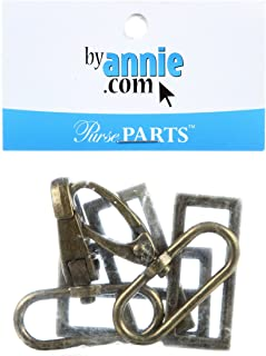 Patterns ByAnnie Hardware Set Antique Brass 1-1/2in