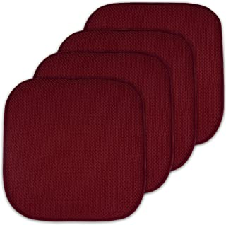 4 Pack Memory Foam Honeycomb Nonslip Back 16
