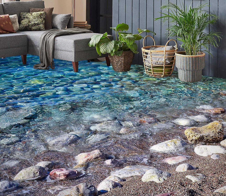 3D Waterside Stones 8628 Floor Wallpaper Print Time sale Murals Gifts Decal Wall