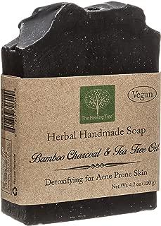 Vegan Handmade Soap - Bamboo Charcoal & Tea Tree Oil for Acne Prone Skin by The Healing Tree