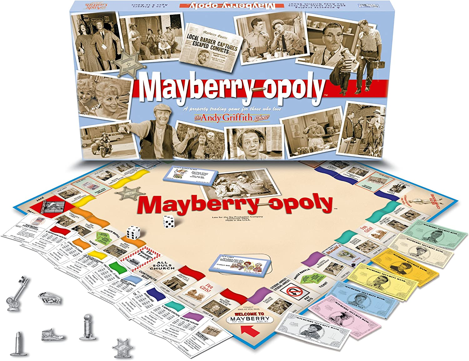 MayberryOpoly  The Andy Griffith Show Monopoly Board Game