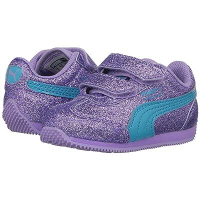 Puma Kids Whirlwind Glitz V (Toddler) (Purple Rose/Blue Atoll) Girls Shoes