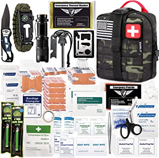 EVERLIT 250 Pieces Survival First Aid Kit IFAK Molle...