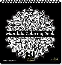 Zen Sangam Mandala Young Adults Coloring Book : Expert Maestros (Level 1) – 24 Unique Marvelous Mandalas