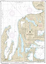 Nautical Map Poster - Grand Traverse Bay to Little Traverse Bay;Harobr Springs;Petoskey;Elk Rapids;Suttons Bay;Northport;Traverse City, Gloss finish