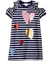 Kate Spade New York Kids - Tossed Hearts Striped Dress (Little Kids/Big Kids)