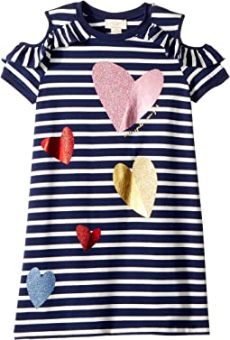 Tossed Hearts Striped Dress (Little Kids/Big Kids)