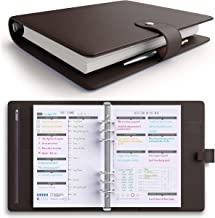 [MSRP $50 - Sale] LUX PRO Productivity Planner – Best A5 Undated Diary/Organizer for 2019 & 2020 - Daily Schedule & Reflection Journal - Manage Time/Projects/Finances - Goals & Gratitude (Dark Brown)