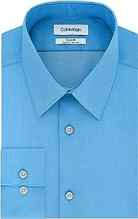 Calvin Klein Men's Dress Shirt Slim Fit Non Iron Solid