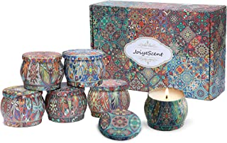 JoiyeScent Luxury Scented Candles Set, Made of 100% Natural Soy with Essential Oils for Stress Relief, 6 Pack Small Candle...