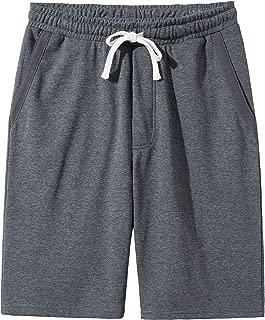 Men's Casual Cotton Knit Short Drawstring Elastic Jogger Gym Shorts