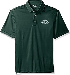 NCAA Wright State Raiders Men's Houston Performance Polo Shirt, XX-Large, Hunter