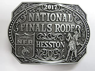 HESSTON 2017 NATIONAL FINALS RODEO NFR YOUTH (SMALL) BELT BUCKLE. NEW COWBOY WRANGLER PRORODEO