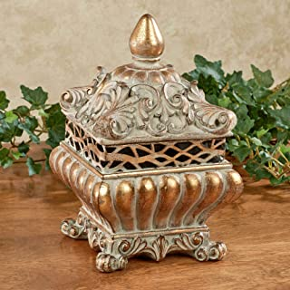 gold decorated covered box