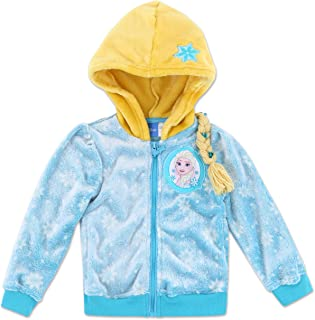 Toddler and Big Girl Relaxed Fit Lightweight Zip Up Fleece Jacket Hoodie Sweatshirt Pullover