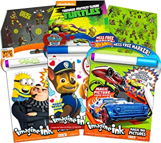 Imagine Ink Coloring Book Bundle Including 3 No Mess Magic Ink Activity Books Featuring Hot Wheels, Paw Patrol, and Despic...