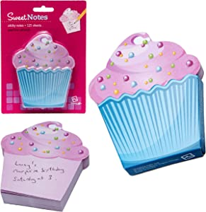 Yummy Sticky Notes Novelty Food Snacks School Office Notepad Memo Note Pad Gift – Cupcake