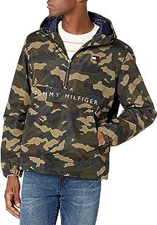 mens Performance Fleece Lined Hooded Popover Jacket