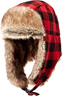 Men's Trapper Hat with Faux Fur