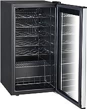 SMETA 28 Bottles Compressor Wine Refrigerator with Stainless Steel Door No Frost Wine Cellar Fridge 3.1 Cu.Ft Freestanding...