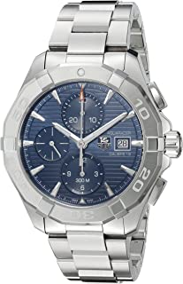 TAG Heuer Men's 'Aquaracer' Swiss Automatic Stainless Steel Dress Watch, Color:Silver-Toned (Model: CAY2112.BA0927)