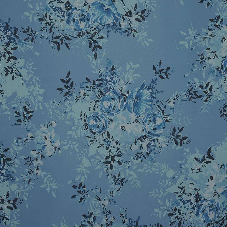 Fabtrends Hi Multi Chiffon Floral Bouquet Peri Blue