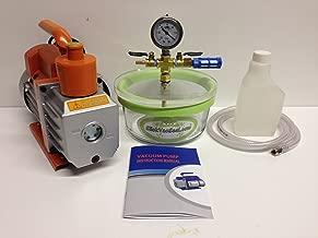 2 Qt Pyrex Vacuum Chamber+ 3 CFM Vacuum Pump