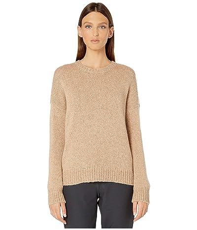 Eileen Fisher Airspun Wool Mohair Round Neck Top (Honey) Women