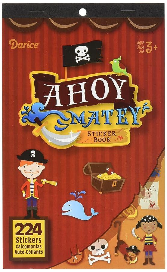 Darice 106-4038 224Piece, Pirate Ahoy Matey Theme Sticker Book