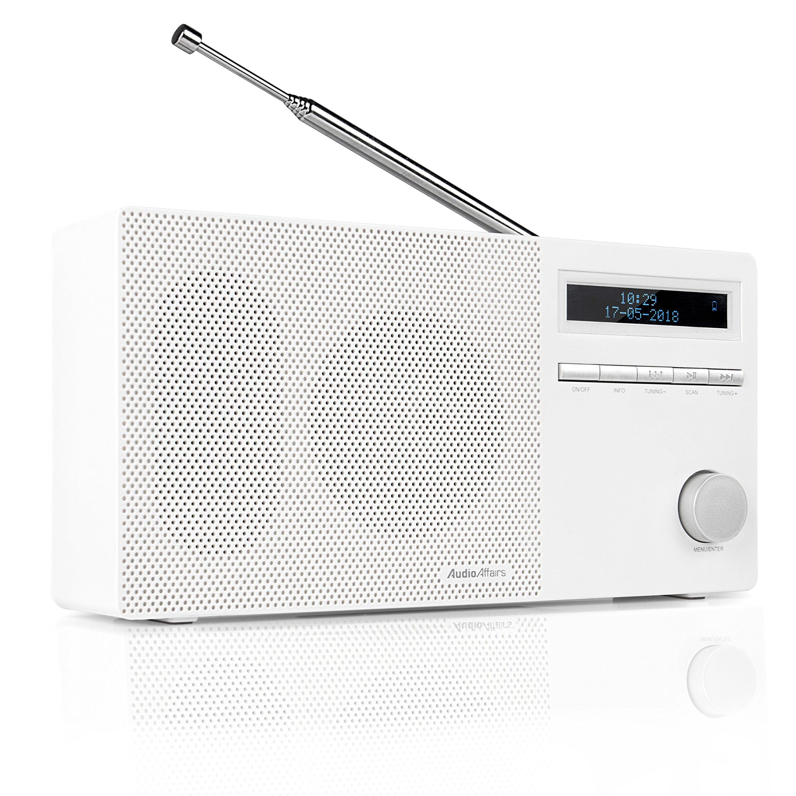 AudioAffairs Radio DAB+ Portátil  con Bluetooth y Batería  Radio