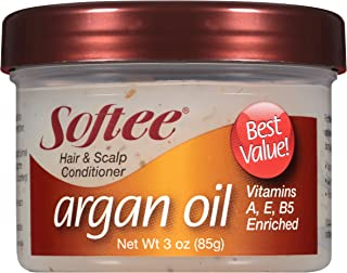Softee Hair and Scalp Conditioner Argan Oil, 3 Ounce